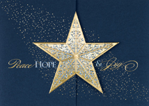Gatefold Star Christmas Card
